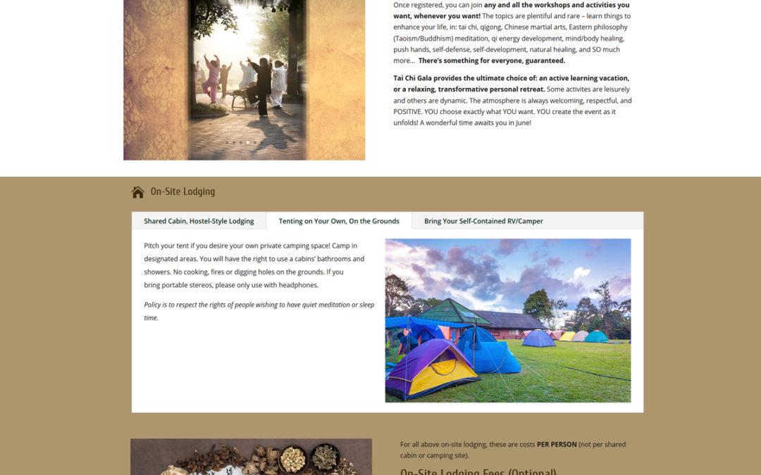 Tai Chi Gala - Websites by Theresa